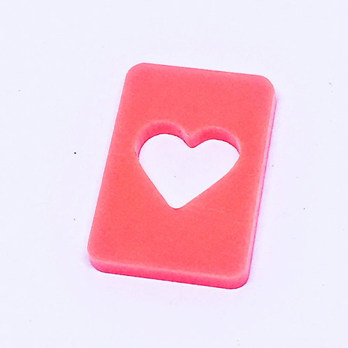 1 Piece. Playing Card Hearts Charms-Acrylic Laser cut Shapes Online