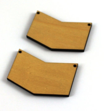 Laser Cut Supplies-1 Piece. Chevron Charms-Acrylic. Wood Laser Cut Shape