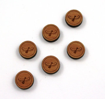 8 Pieces. Canoe Charms-Wood Laser Cut Shape