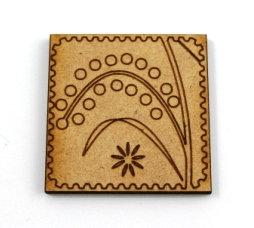 Laser Cut Supplies-1 Piece. Reed Tile-Acrylic. Wood Laser Cut Sha