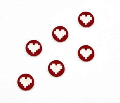 Laser Cut Supplies-8 Piece. Retro Heart Charms-Acrylic Laser Cut Shape