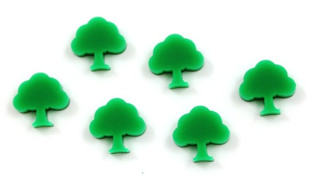 Laser Cut Supplies-8 Pieces. Tree Charms-Acrylic.Wood Laser Cut Shapes