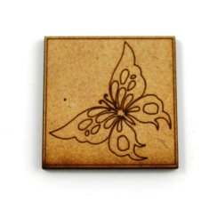 Laser Cut Supplies-1 Piece. Butterfly Tile-Acrylic. Wood Laser Cut Shape