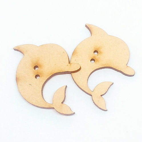 Lasercut Craft Wood–1 Piece. Dolphin 35mm Wide.Scrapbook.Wood Craft Shape