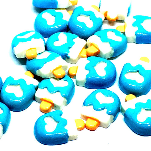 1 Piece. Blue Icecream Resin Cabochon Flat Back Embellishments
