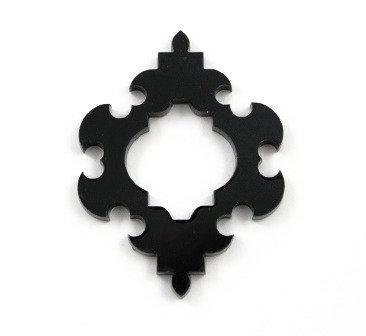 Laser Cut Supplies-1 Piece. Detailed Frame Charms-Acrylic.Wood Lasercut Shape