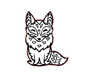 Laser Cut Aztec Fox Charm