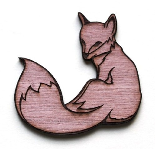 Laser Cut Supplies-1 Piece. Fox Charms-Acrylic. Wood Laser Cut Shape