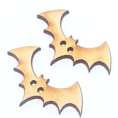 Lasercut Craft Wood Bat –1 Piece. 40mm Wide. Scrapbook. Wood Craft