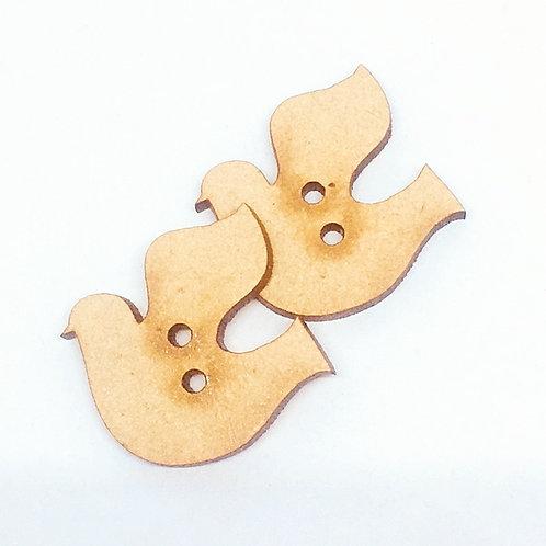 Lasercut Craft Wood–1 Piece. Dove 25mm Wide.Scrapbook.Wood Craft Shape