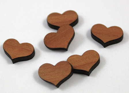 Laser Cut Supplies-8 Pieces.Heart Charms-Acrylic.Wood Laser Cut Shapes