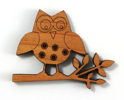 Laser Cut Supplies-1 Piece. Owl Charms-Acrylic. Wood Laser Cut Shape