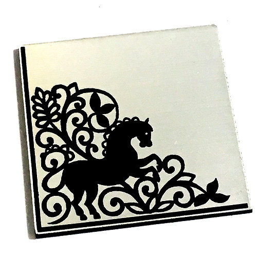 1 Piece. Regal Horse Cabochon -Acrylic Laser Cut Shape
