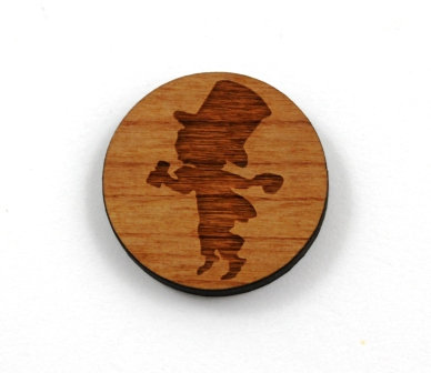 1 Piece. Mad Hatter Charms-Acrylic. Wood Laser Cut Shapes