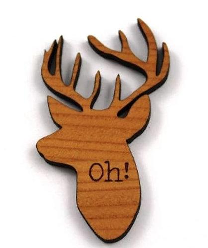 Laser Cut Supplies-1 Piece.Oh Deer Charms-Acrylic. Wood Laser Cut Shape