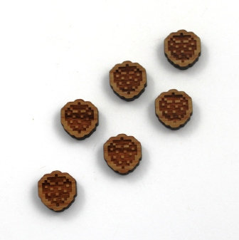 8 Pieces. Retro Strawberry Charms-Wood Laser Cut Shapes