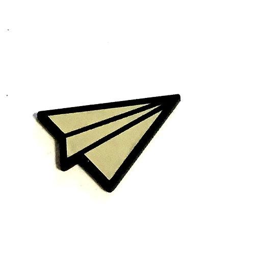 8 Piece. Paper Plane Cabochons-Acrylic Laser Cut Shapes
