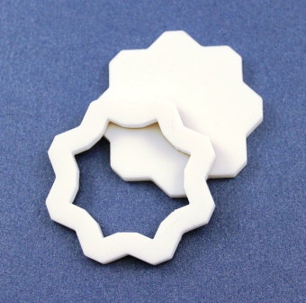 Laser Cut Supplies-1 Piece.Flower Bezel Charms-Acrylic.Wood Lasercut Shape