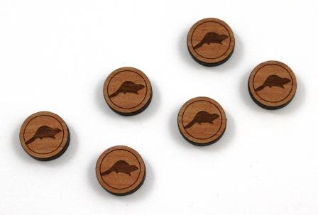 8 Pieces. Beaver Charms-Wood Laser Cut Shape