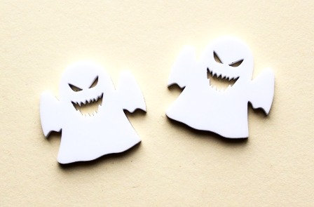 Laser Cut Supplies-1 Piece. Ghost Charms-Acrylic.Wood Laser Cut Shape