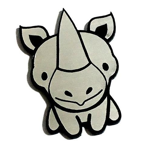 1 Piece. Cute Rhinoceros Cabochon -Acrylic Laser Cut Shape