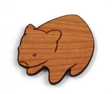 Laser Cut Supplies-1 Piece.Australian Wombat Charm-Acrylic. Wood Laser Cut Shape