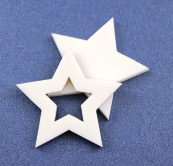 Laser Cut Supplies-1 Piece. Star Bezel Charms-Acrylic.Wood Laser Cut Shape