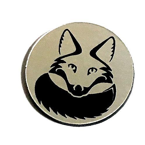 8 Piece. Sly Fox Mini Cabochons-Acrylic Laser Cut Shapes