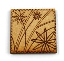 Laser Cut Supplies-1 Piece. Flower Tile-Acrylic. Wood Laser Cut Shape
