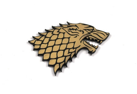 Laser Cut Supplies-1 Piece. House Stark-Acrylic. Wood Laser Cut Shape