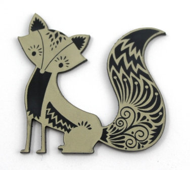 1 Piece. Pretty Fox Cabochon -Acrylic Laser Cut Shapes