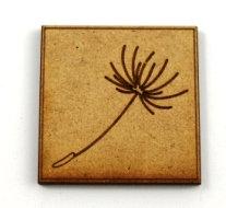Laser Cut Supplies-1 Piece. Dandelion Tile-Acrylic. Wood Laser Cut Shape