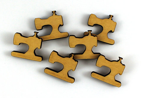 Laser Cut Supplies-1 Piece. Vintage Sewing Charms-Acrylic. Wood Laser Cut Shape