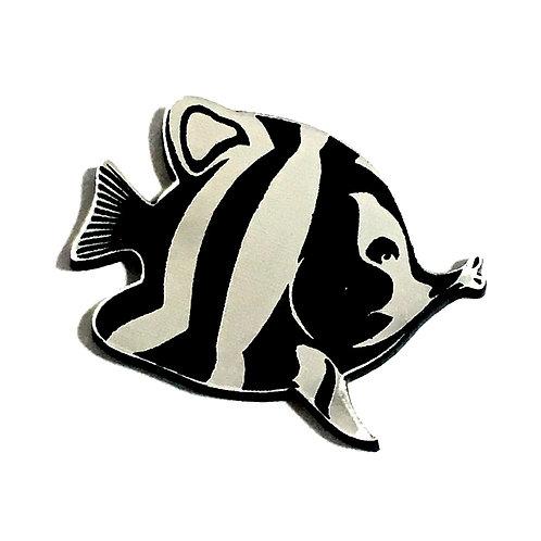 1 Piece. Butterfly Fish Cabochon -Acrylic Laser Cut Shape