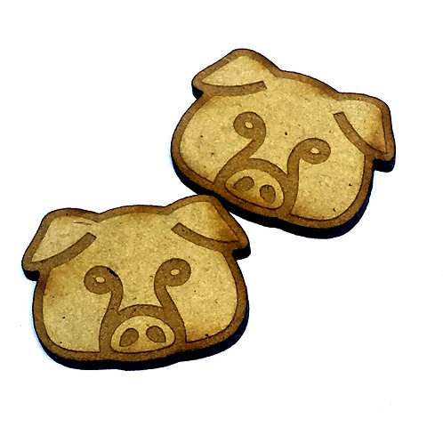 8 Pieces. Pig Mini Laser Cut Charms- Customize Your Laser Cut