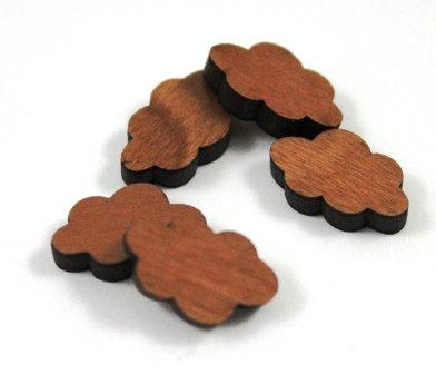 Laser Cut Supplies-8 Pieces. Cloud Charms-Acrylic.Wood Laser Cut Shapes