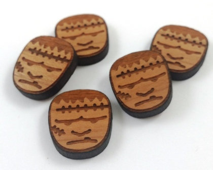 Laser Cut Supplies-8 Pieces. Frankenstein Charms-Acrylic.Wood Laser Cut Shapes