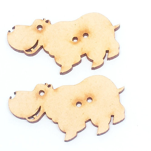 Lasercut Craft Wood Hippopotamus –1 Piece. 50mm Wide. Scrapbook. Wood C