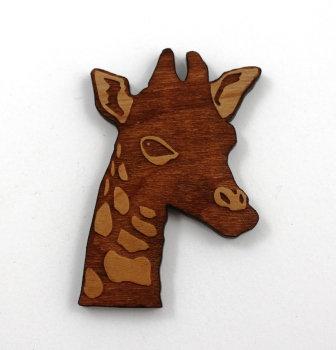 1 Piece. Giraffe Head Charms- Wood Laser Cut Shapes