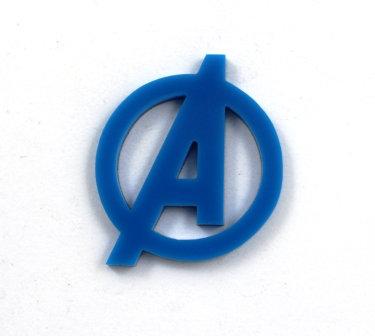 Laser Cut Supplies-1 Piece. Avenger Charms-Acrylic.Wood Laser Cut Shapes