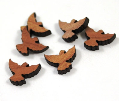 Laser Cut Supplies-8 Pieces. Bird Flight Charms-Acrylic.Wood Laser Cut Shapes