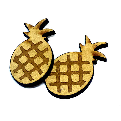 8 Pieces. Pineapple Mini Laser Cut Charms- Customize Your Laser Cut Sha