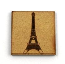 Laser Cut Supplies-1 Piece. Paris Tile-Acrylic. Wood Laser Cut Shape