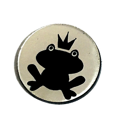 8 Piece. Frog Prince Mini Cabochons-Acrylic Laser Cut Shapes