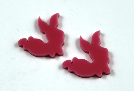 Laser Cut Supplies-1 Piece. Little Pig Charms-Acrylic.Wood Laser Cut Shape
