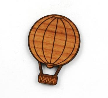 1 Piece. Hot Air Balloon Charms- Wood Laser Cut Shapes