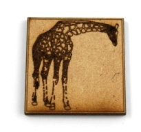 Laser Cut Supplies-1 Piece. Giraffe Tile-Acrylic. Wood Laser Cut Shape