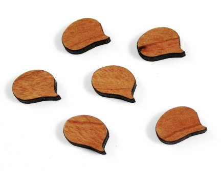 8 Pieces. Speech Bubble Oval Charms-Wood Laser Cut Shape