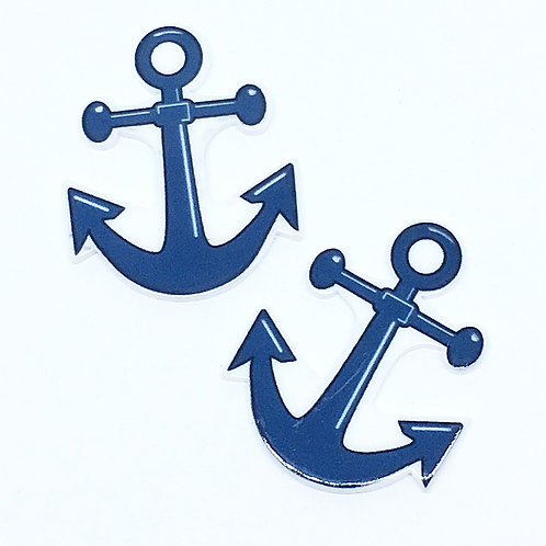 Laser Cut Supplies- 2 Pieces. 30mm Anchor Charms - Laser Cut Acrylic