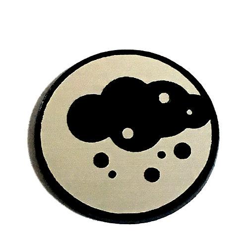 8 Piece. Storm Cloud Mini Cabochons-Acrylic Laser Cut Shapes